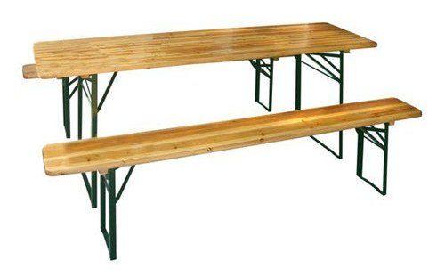 Jeden pivní set se skládá ze stolu a dvou lavic, zdroj: azrent.cz
